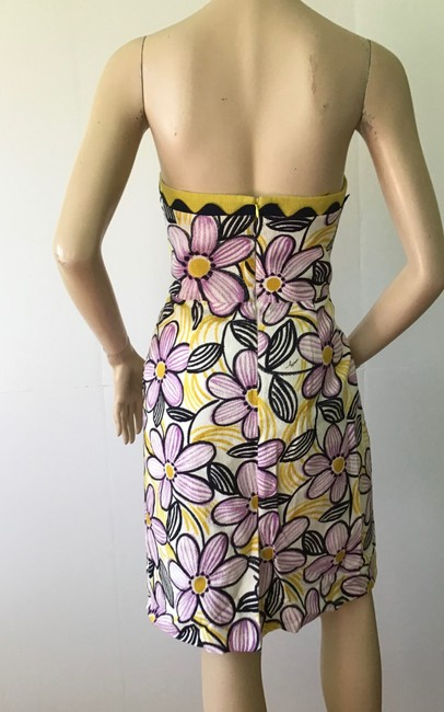 MILLY Purple /Yellow New York Short Casual Dress Size 6 (S) MILLY Purple /Yellow New York Short Casual Dress Size 6 (S) Image 7