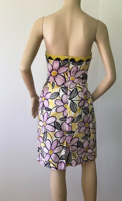 MILLY Purple /Yellow New York Short Casual Dress Size 6 (S) MILLY Purple /Yellow New York Short Casual Dress Size 6 (S) Image 8