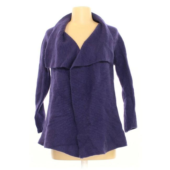Item - Purple Wool/Cashmere Open Sweater Small Cardigan Size 4 (S)