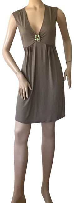 Item - Taupe Turquoise Embellished Dress Cover-up/Sarong Size 12 (L)