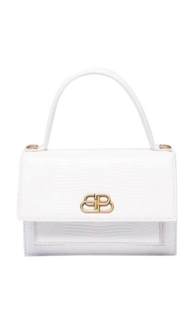 Item - Never Worn Slight Yellow Dis Coloration Not Noticeable White Lizard Skin Leather Cross Body Bag