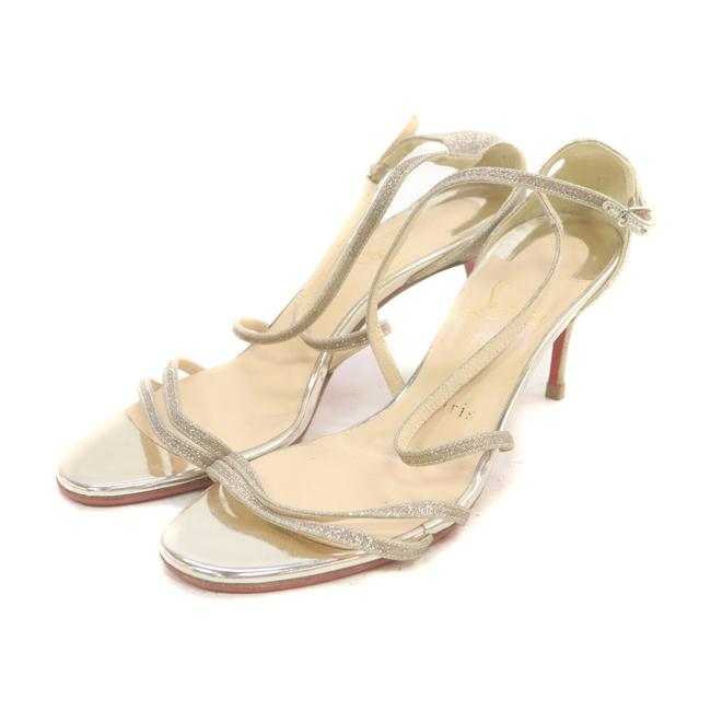 Item - Gold Sparkle Strappy Heels 863220 Sandals Size EU 35.5 (Approx. US 5.5) Narrow (Aa, N)