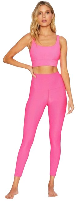 Item - Pink Ribbed Ayla High Waist Activewear Bottoms Size 4 (S, 27)