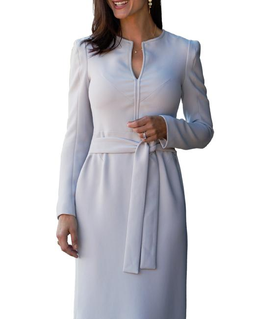 Item - Lilac (Very Light Purple Grey) Cage Ties Mid-length Work/Office Dress Size 6 (S)