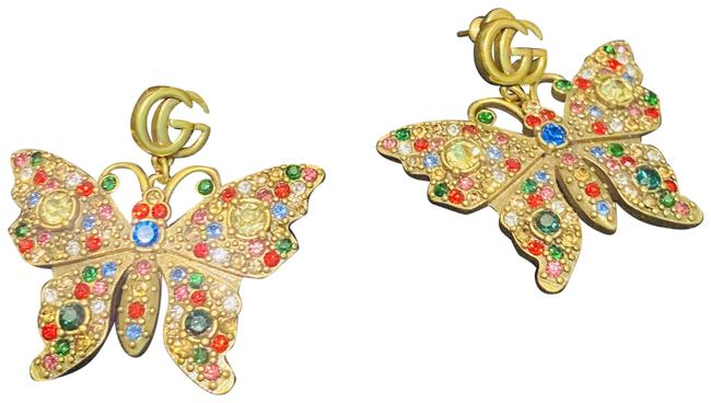 Item - Multicolor Rare Gg Crystal Butterfly Earrings