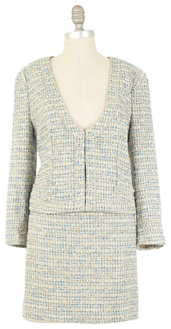 Item - Beige Tweed Skirt Suit Size 12 (L)