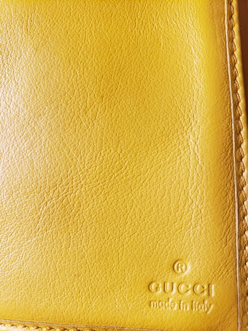 Gucci Mustard Yellow Leather with Crest Wallet Gucci Mustard Yellow Leather with Crest Wallet Image 5