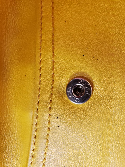 Gucci Mustard Yellow Leather with Crest Wallet Gucci Mustard Yellow Leather with Crest Wallet Image 6