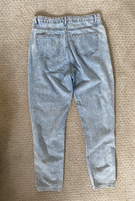 Missguided Blue Distressed Riot Straight Leg Jeans Size 8 (M, 29, 30) Missguided Blue Distressed Riot Straight Leg Jeans Size 8 (M, 29, 30) Image 3
