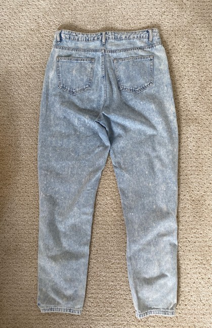 Missguided Blue Distressed Riot Straight Leg Jeans Size 8 (M, 29, 30) Missguided Blue Distressed Riot Straight Leg Jeans Size 8 (M, 29, 30) Image 4