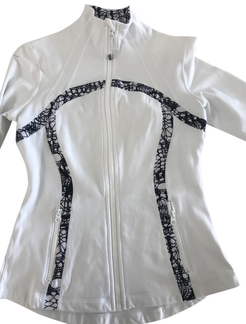 Item - White and Black Sport Activewear Top Size 6 (S)