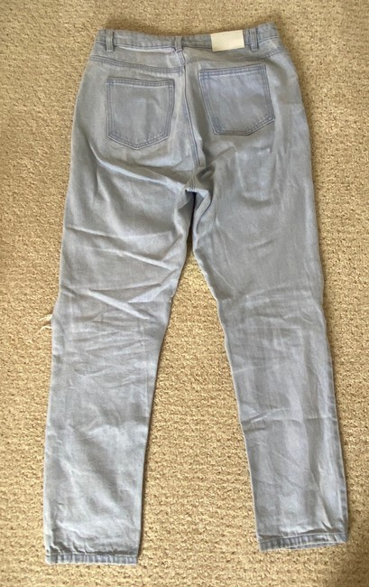Missguided Blue Distressed Straight Leg Jeans Size 8 (M, 29, 30) Missguided Blue Distressed Straight Leg Jeans Size 8 (M, 29, 30) Image 3