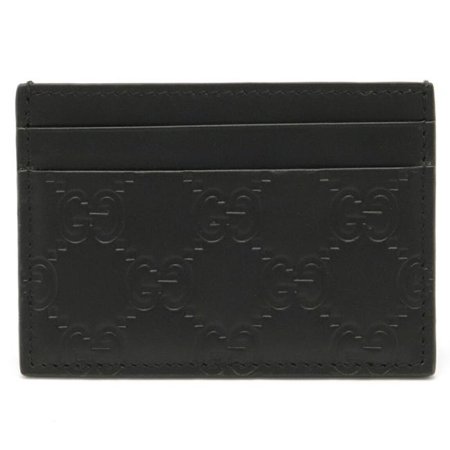 Item - Black Shima Money Clip Card Case Business Holder Pass Leather Silver Metal Fittings 308915 Wallet