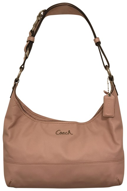 Item - Shoulder East West Duffle Convertible F17489 Blush Pink Silver Leather Hobo Bag