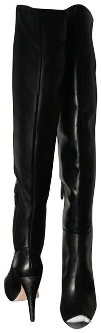 Item - Black Over The Knee Boots/Booties Size EU 37 (Approx. US 7) Regular (M, B)