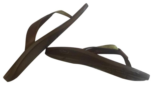 Item - Brown and Green Sandals Size US 8 Regular (M, B)