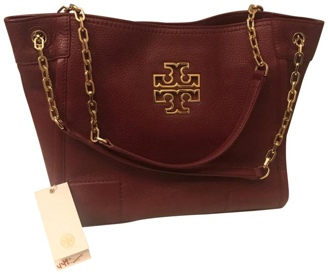 Item - Tote Britten Slouchy Wine Purple Red Leather Shoulder Bag