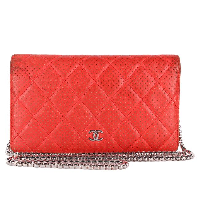 Item - Red Cc Quilted 9674 Wallet