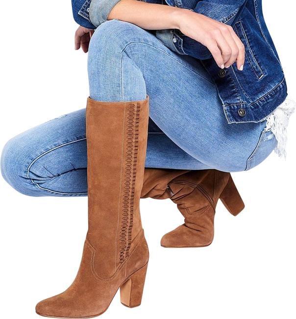Item - Brown New Coranna Tall Heeled Suede Boots/Booties Size US 6 Regular (M, B)