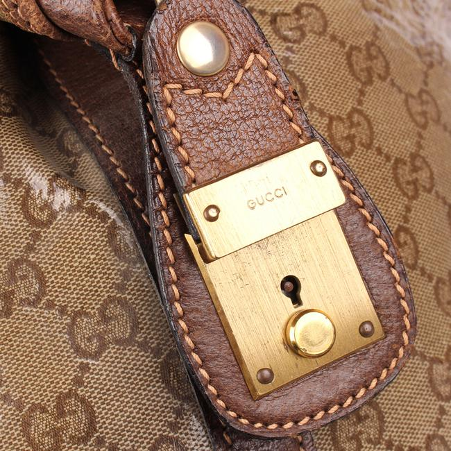 Gucci Top Handle Tote Monogram Gg Carry On 9666 Brown Leather & Coated Canvas Weekend/Travel Bag Gucci Top Handle Tote Monogram Gg Carry On 9666 Brown Leather & Coated Canvas Weekend/Travel Bag Image 10