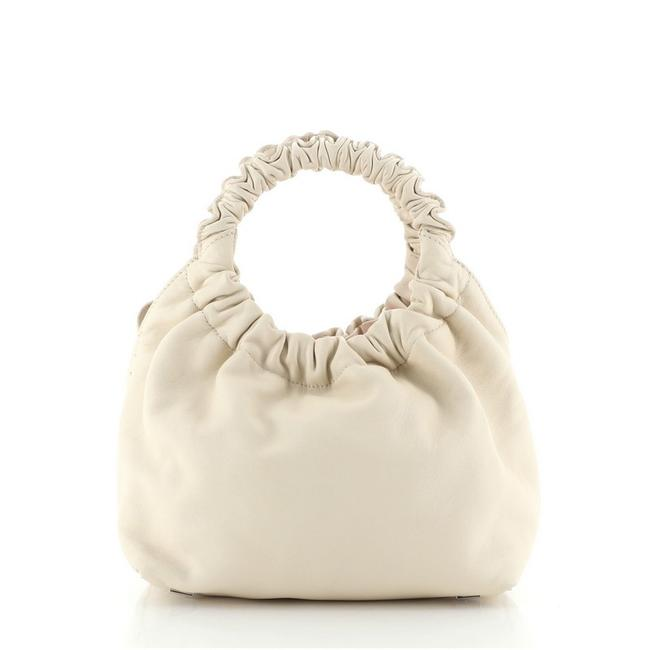 Item - Double Circle Small Neutral Leather Tote