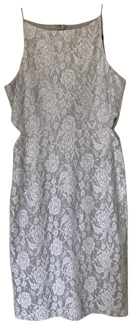 Item - White and Silver Short Cocktail Dress Size 6 (S)