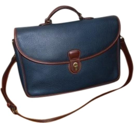 Preload https://item3.tradesy.com/images/coach-briefcase-blue-with-brown-trim-leather-tote-29047-0-1.jpg?width=440&height=440