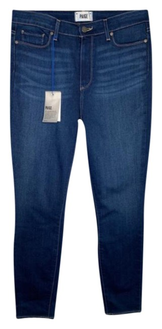 Item - Blue Dark Rinse Hoxton High Ankle In Duvall Skinny Jeans Size 31 (6, M)