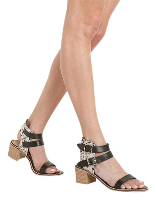 Item - Black Tan Orin Leather & Haircalf Sandals Size US 8 Regular (M, B)