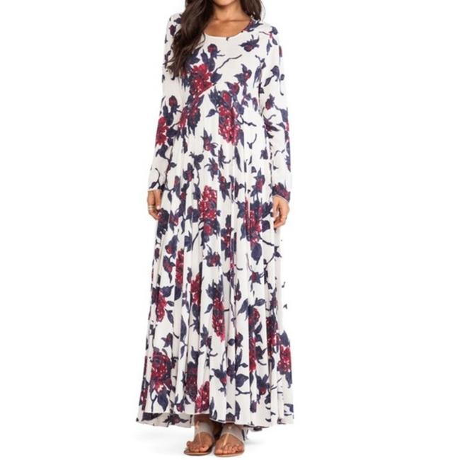 Item - First Kiss In Cream Combo Long Casual Maxi Dress Size 0 (XS)