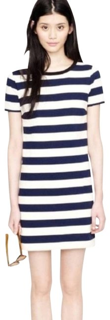 Item - Blue Nautical Rugby Stripe Navy & Ivory Shift Small Cocktail Dress Size 4 (S)