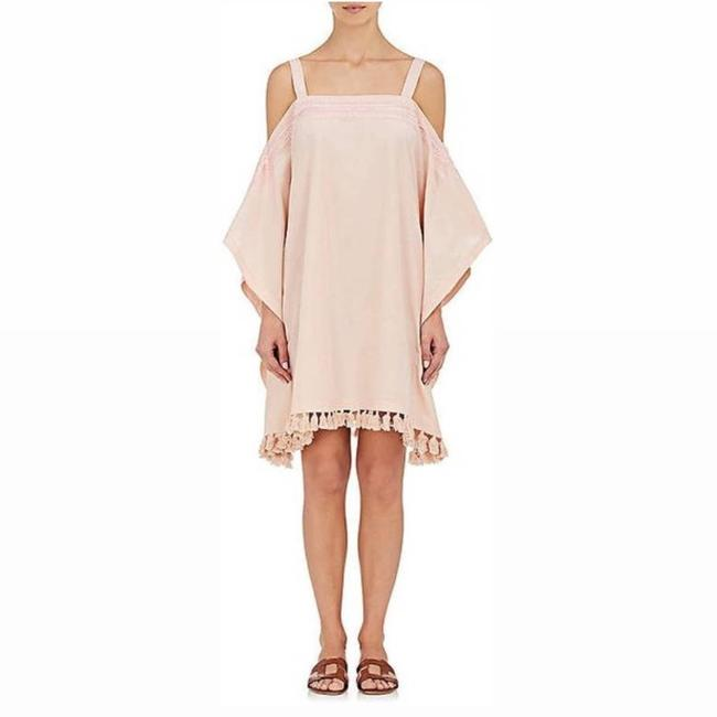 Item - Pink Cotton Silk Swim Cover Cocktail Dress Size 8 (M)