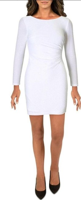 Item - Ivory Womens Mini Sequined Short Cocktail Dress Size 12 (L)