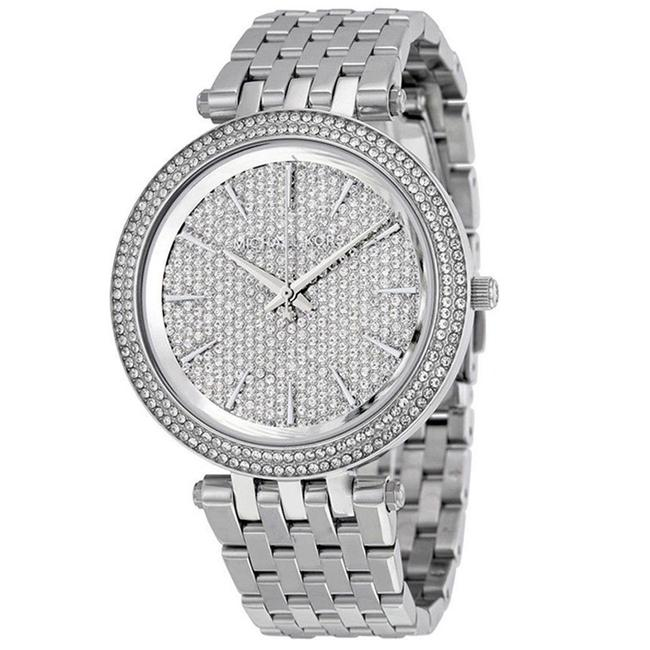 Item - Silver Mk3437 Darci Pave Crystal Stainless Steel Watch