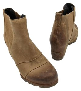 Sorel Wedge Leather Winter Tan Boots