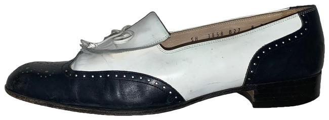 Item - Black/White Brogue Kiltie Loafer Flats Size US 8 Narrow (Aa, N)
