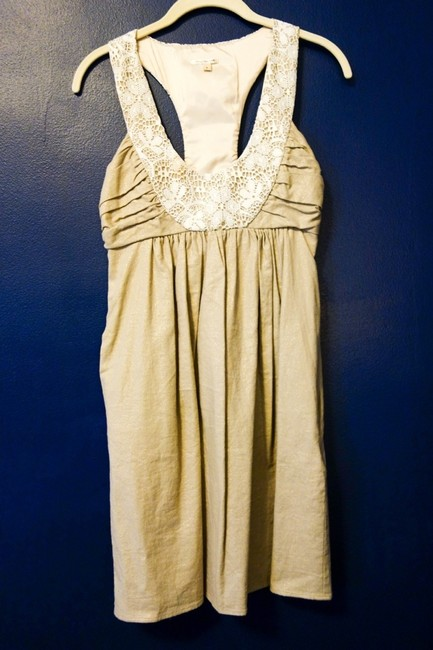 Anthropologie Shift Racerback Wedding Dress
