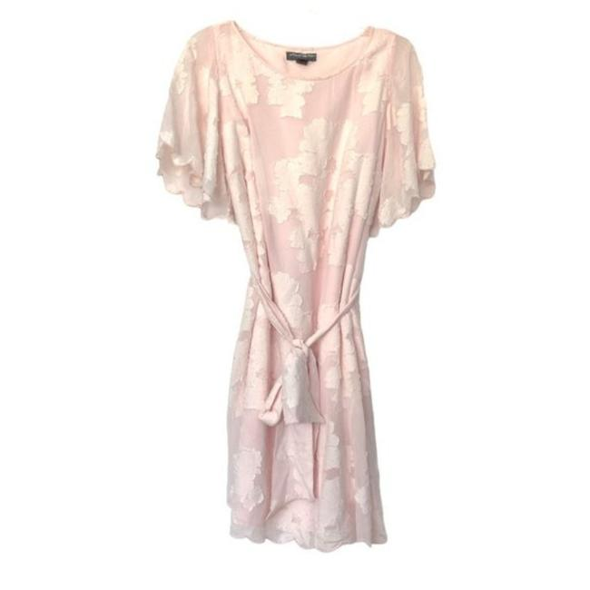 Item - Pink And White Maternity Short Casual Dress Size 14 (L)