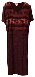 brown print Maxi Dress by K Studio