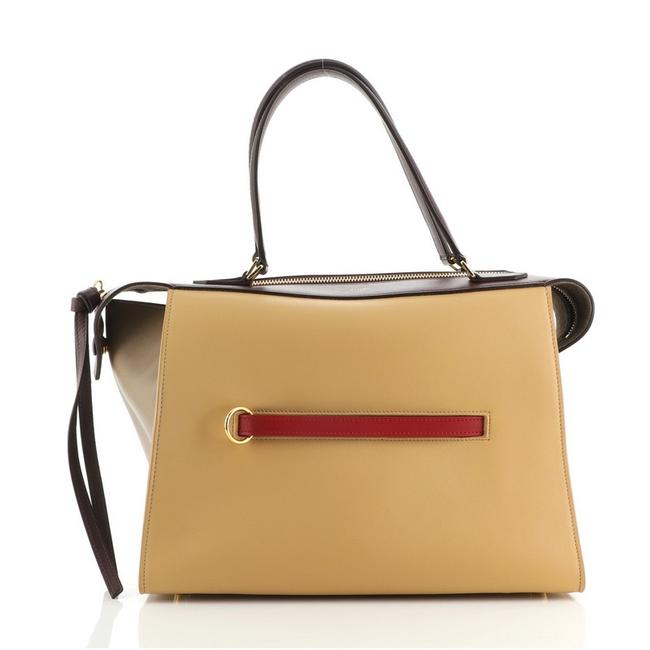 Item - Ring Small Brown Red Leather Tote