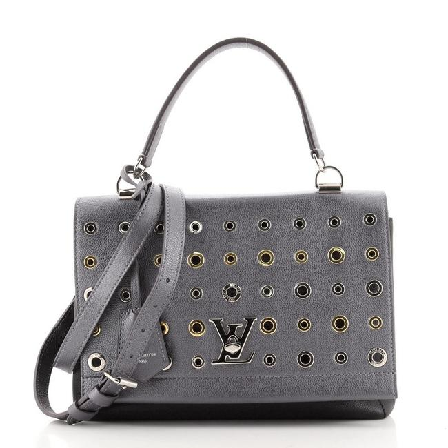Item - Lockme II Handbag Embellished Black Silver Leather Cross Body Bag