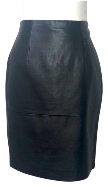 Item - Black Vintage 90s Leather Skirt Size 2 (XS, 26)
