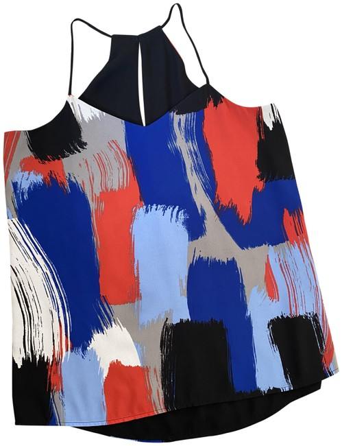 Item - Black Red Blue White Grey Reversible Silky Tank Top/Cami Size 4 (S)