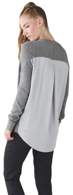 Item - Gray Cardi In The Front Heathered Medium / Silver Spoon Activewear Outerwear Size 6 (S)