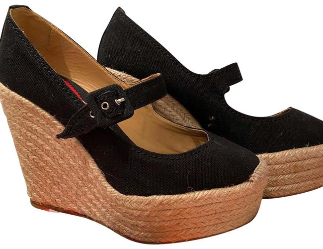 Item - Black Mallorca Wedges Size EU 39 (Approx. US 9) Narrow (Aa, N)