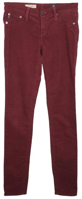 Item - Red Super Legging Corduroy Jeans 25 Pants Size 0 (XS, 25)