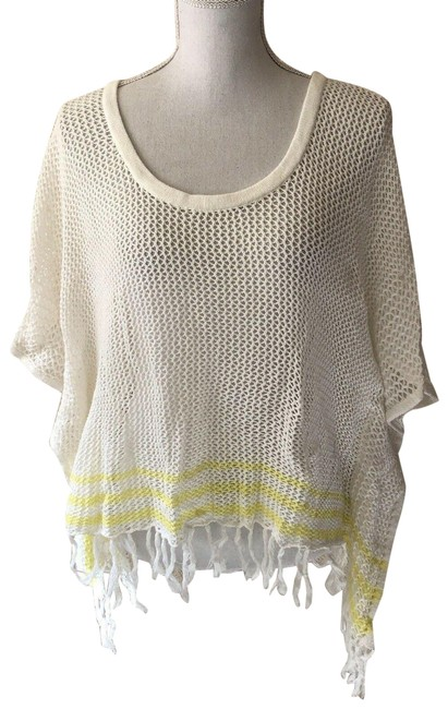 Item - Ivory Womens Top Pullover Beach Tunic Cover-up/Sarong Size 8 (M)