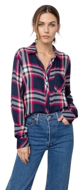 Item - Navy Hunter Button-down Top Size 2 (XS)