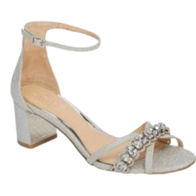 Item - Silver Gionna Metallic and Leather Or Sandal Formal Shoes Size US 7.5 Regular (M, B)