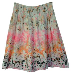 Nine West Pleated Skirt Pink floral